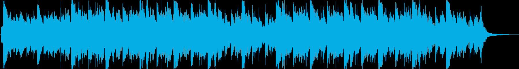 明るいイメージのオーケストラジングル。の再生済みの波形