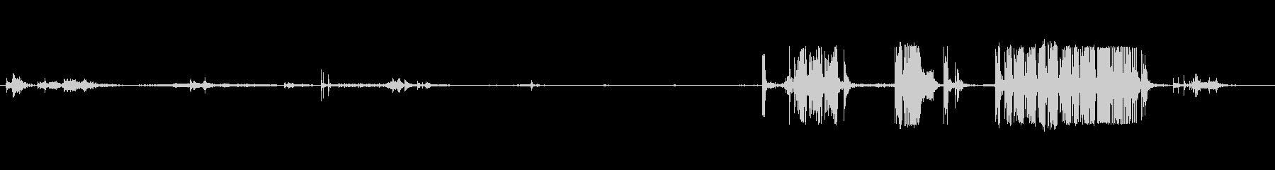 小型段ボール箱:折り畳み式フラップ...の未再生の波形