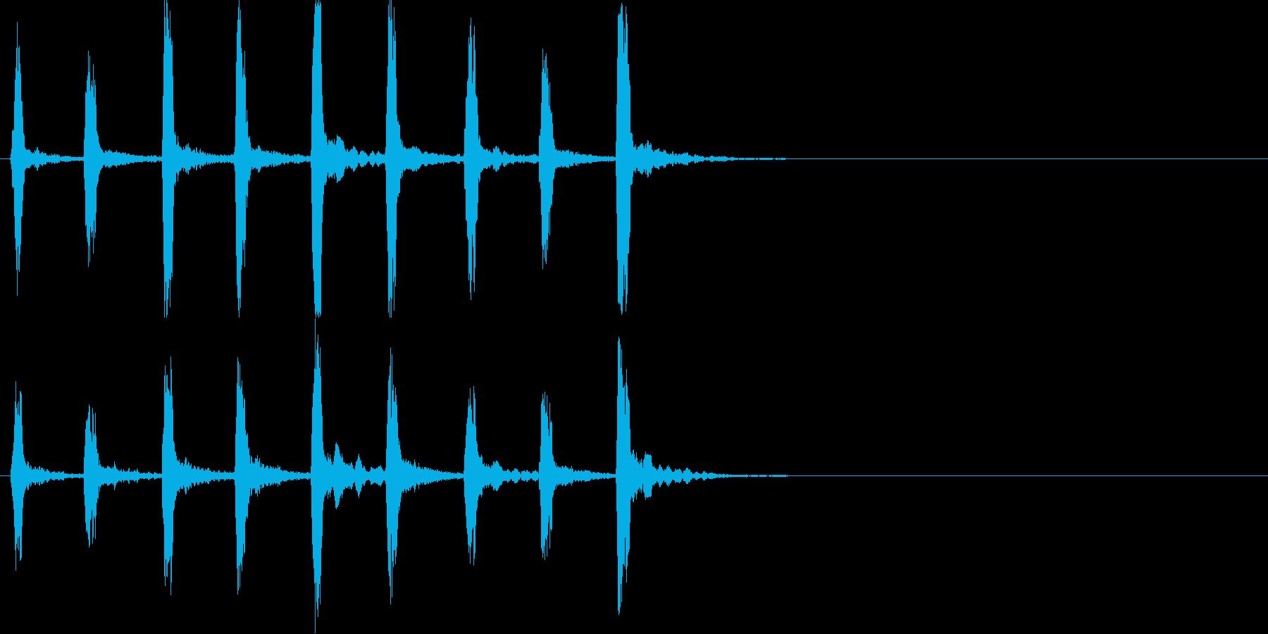 キィッキィッ!(バイオリン怖い刻み)速めの再生済みの波形