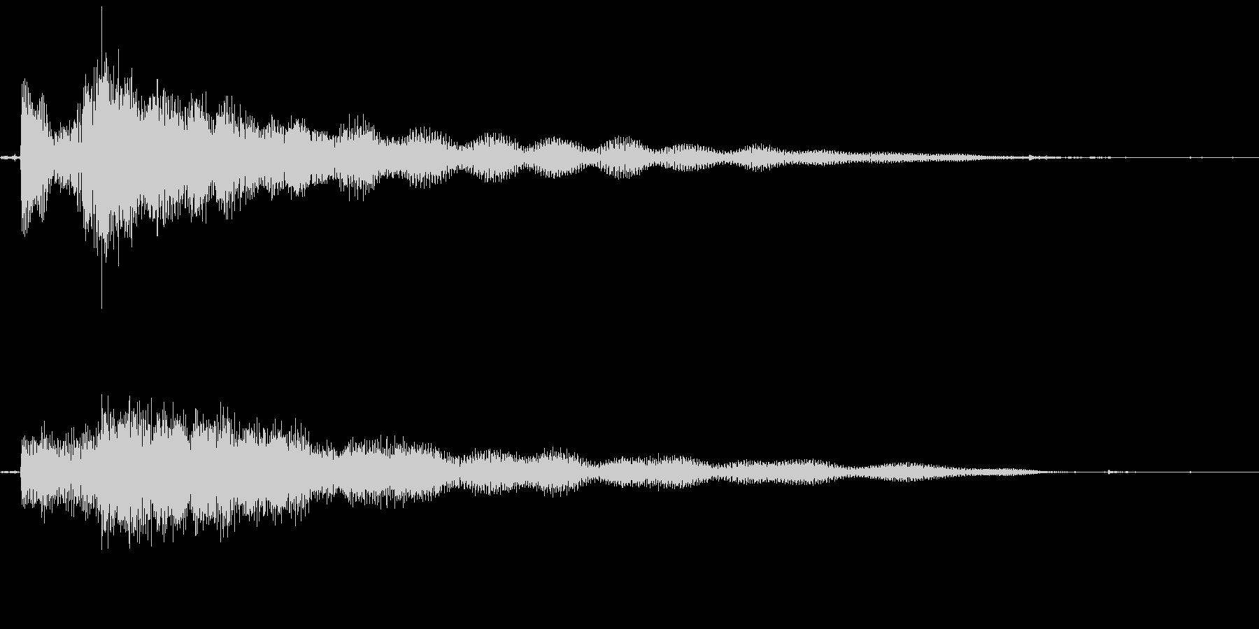 謎めいた場面転換音の未再生の波形