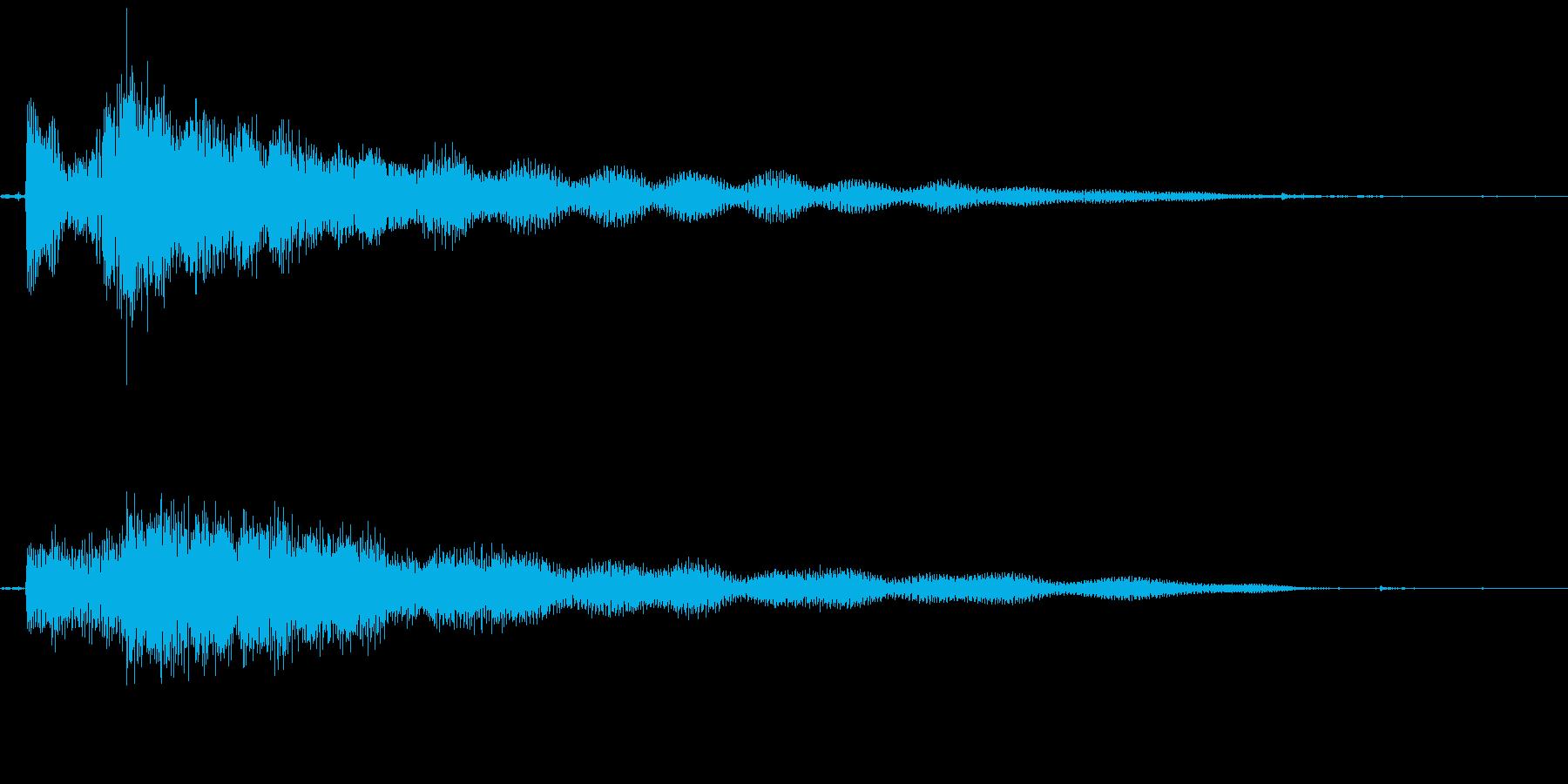 謎めいた場面転換音の再生済みの波形