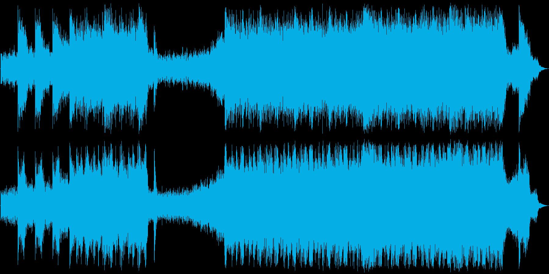 緊迫感のあるSFのサウンドトラックの再生済みの波形
