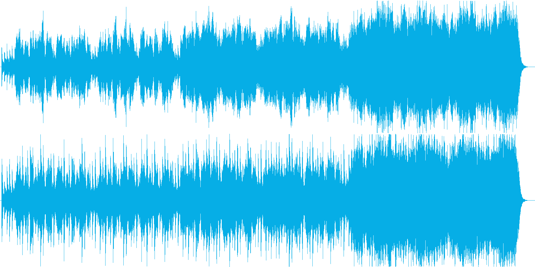 雨の里山の再生済みの波形