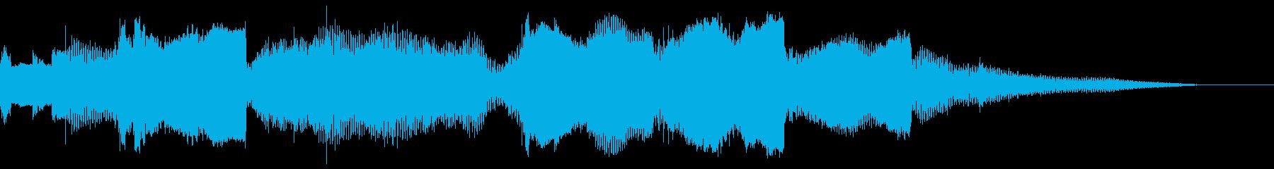 二胡と琴、鈴を使った和風ジングルの再生済みの波形