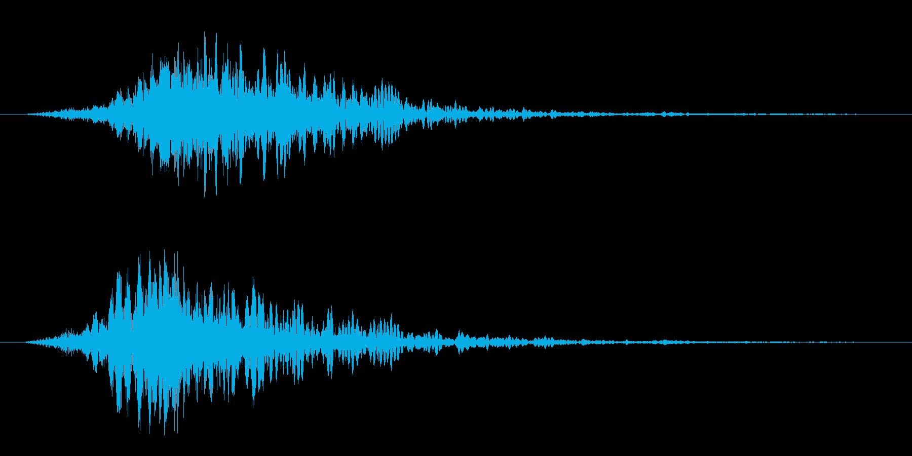 ビシューン(風の音)の再生済みの波形