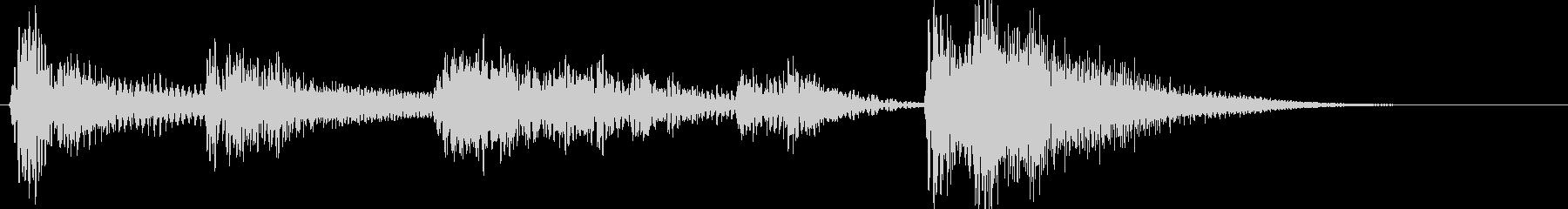 ジャズなアイキャッチ(ベース)の未再生の波形