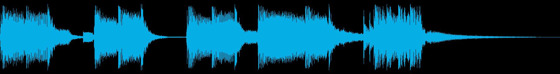 パンキッシュなロックジングル03の再生済みの波形