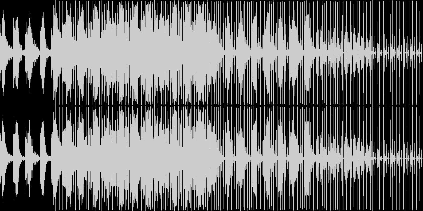 暗めな曲ですの未再生の波形