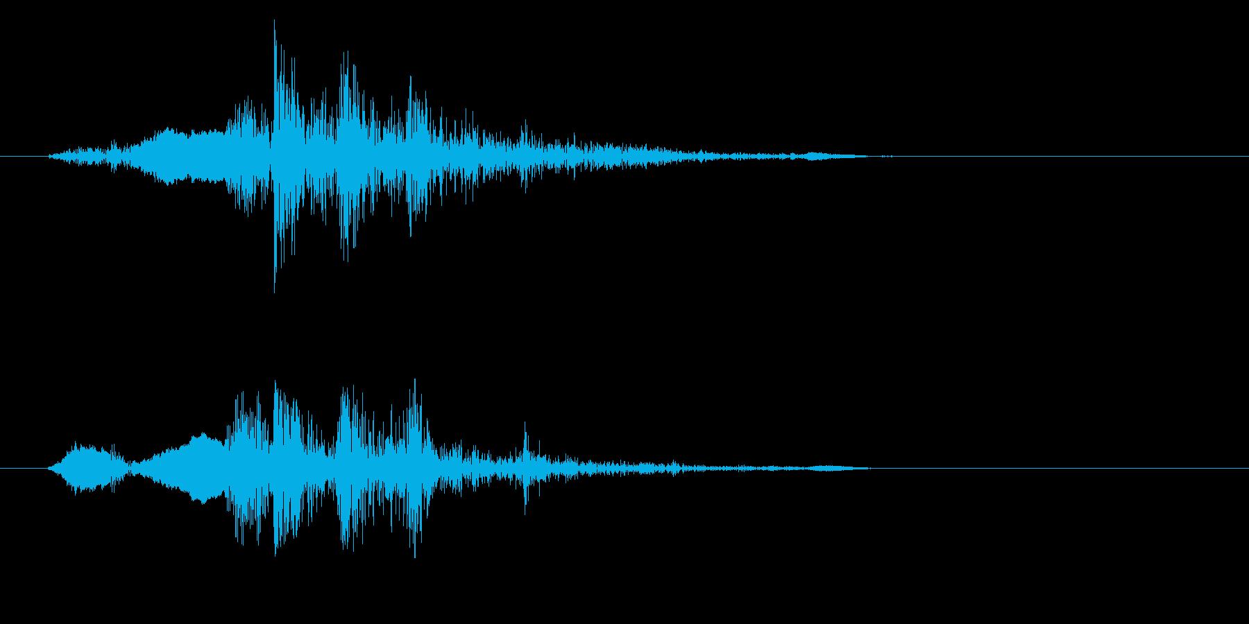 シャッター音(カメラ)の再生済みの波形