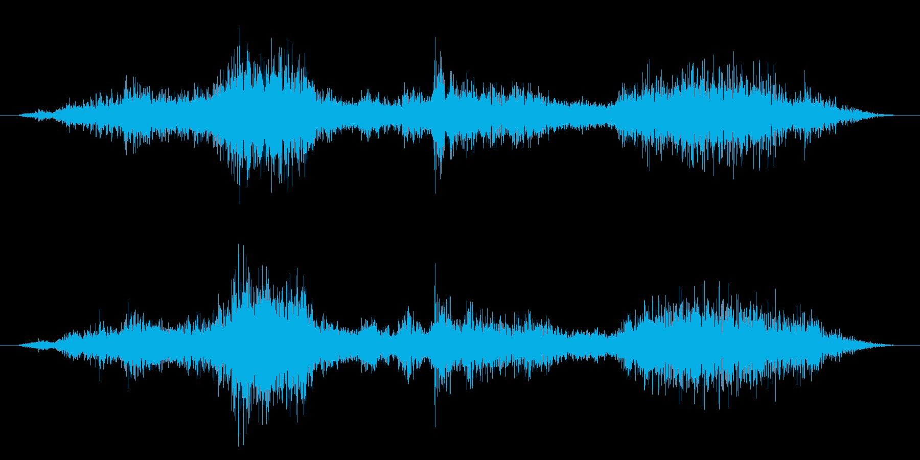 ゾンビやモンスターの叫び声/唸り声23cの再生済みの波形