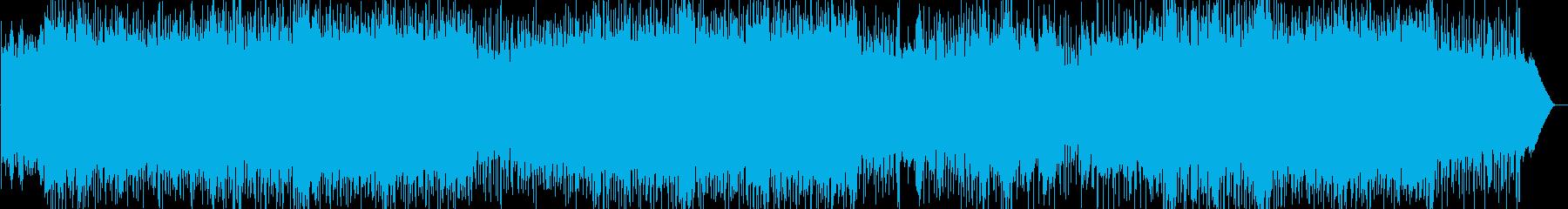 エキサイティングで情熱的なロックの再生済みの波形