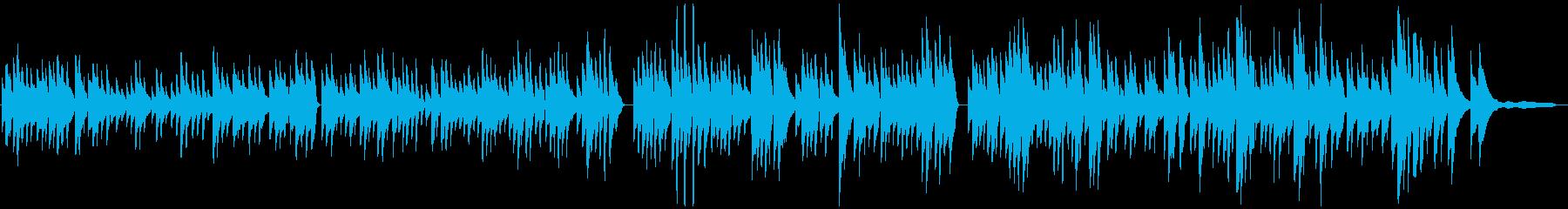 バッハBWV1013ピアノソロの再生済みの波形