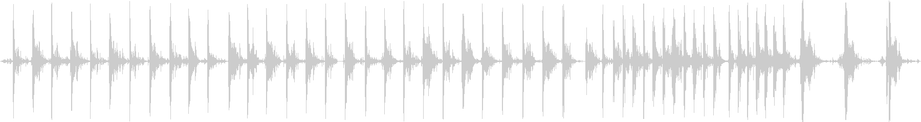 さまざまなラウドメタルフットステッ...の未再生の波形