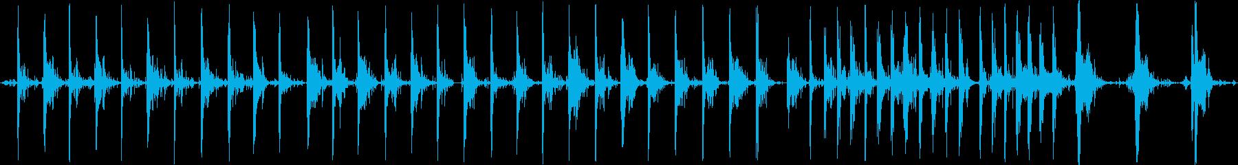 さまざまなラウドメタルフットステッ...の再生済みの波形