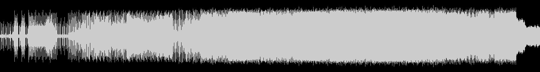 淡々としたリズムBGMの未再生の波形