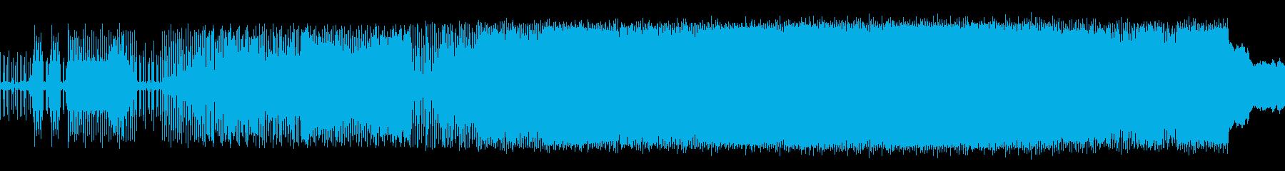 淡々としたリズムBGMの再生済みの波形