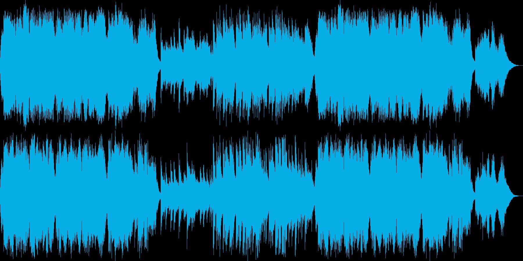 侘び寂びある日本の暮らし和風 琴とチェロの再生済みの波形