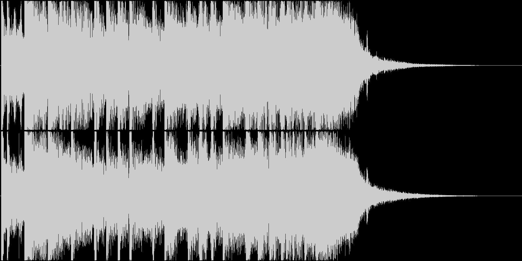エンディング向きロック系ジングルですの未再生の波形