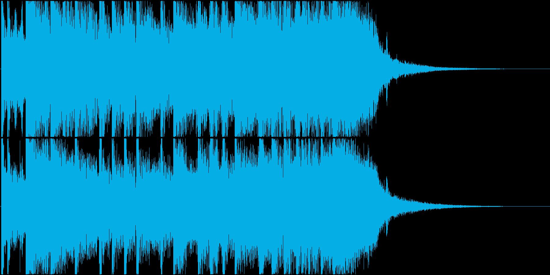 エンディング向きロック系ジングルですの再生済みの波形