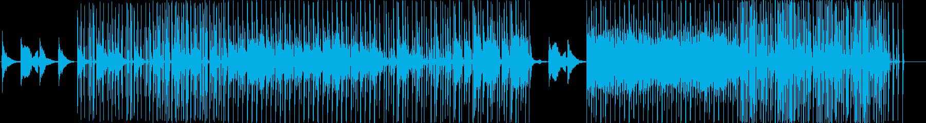 トリッキーな旋律の和風の電子音楽の再生済みの波形