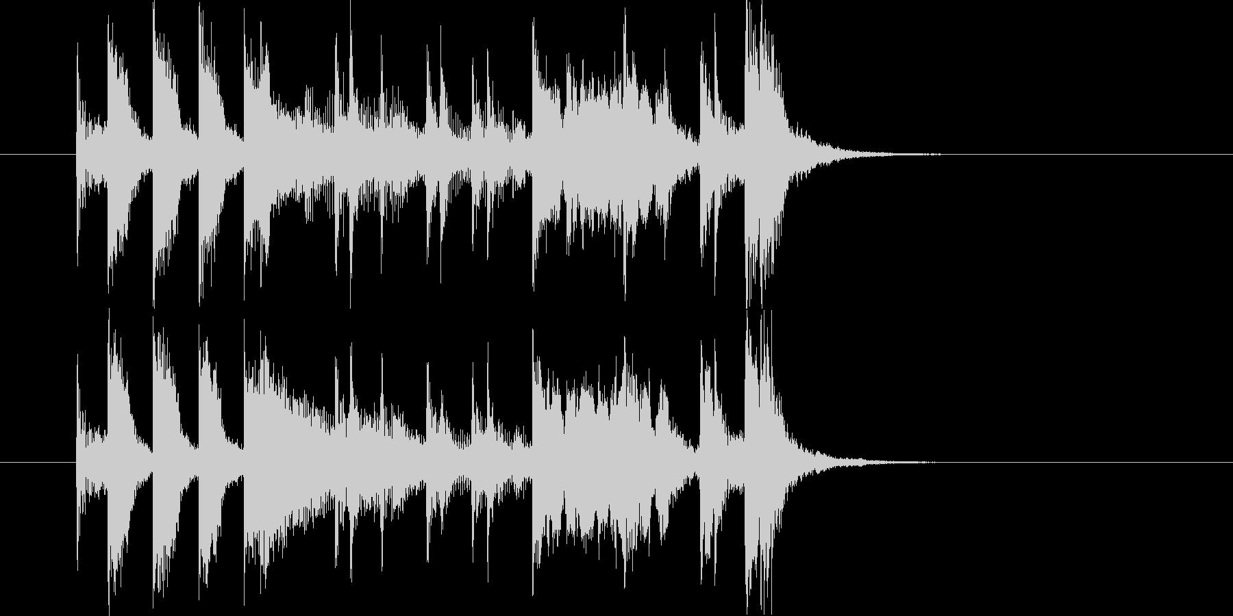 ポップでリズミカルなトランペットジングルの未再生の波形