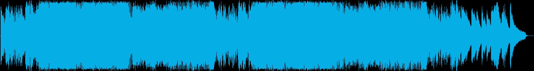天昇る結晶のシンセの再生済みの波形