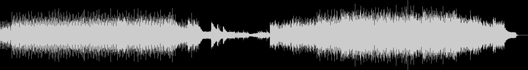 生音と機械音が奏でる爽快テクノロックの未再生の波形