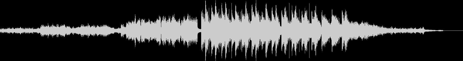 箏や和太鼓を使った和風の楽曲の未再生の波形