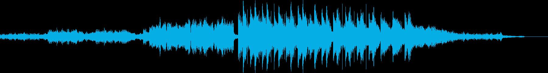 箏や和太鼓を使った和風の楽曲の再生済みの波形