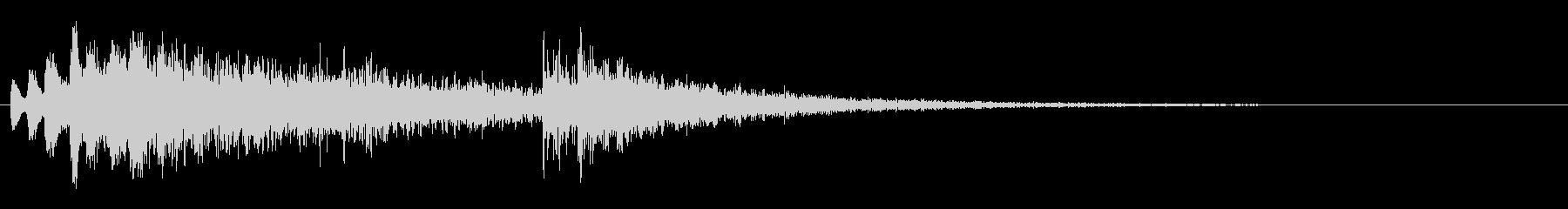 和風ジングル02・お琴と和太鼓・お正月の未再生の波形