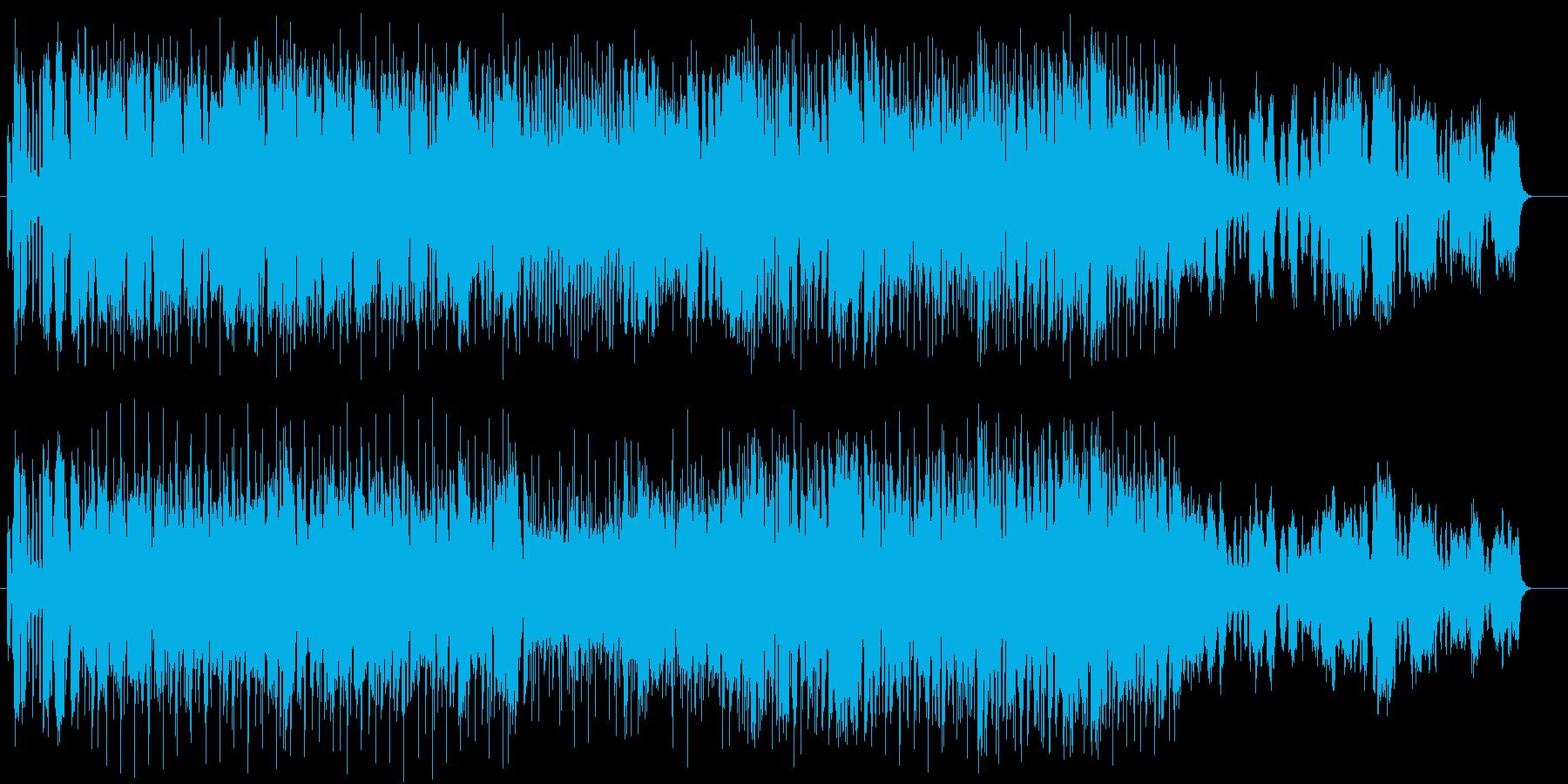 マーチ風の軽快なポップスの再生済みの波形
