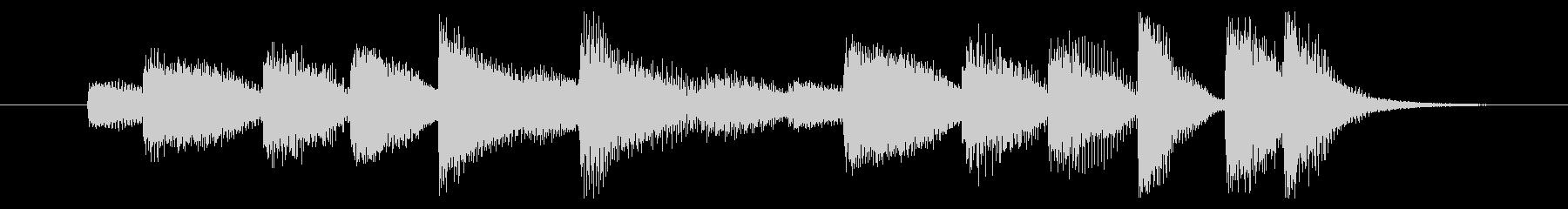 前向きな勢いを感じるピアノジングル 6秒の未再生の波形