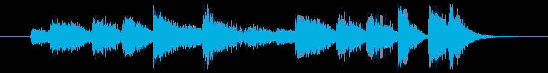前向きな勢いを感じるピアノジングル 6秒の再生済みの波形