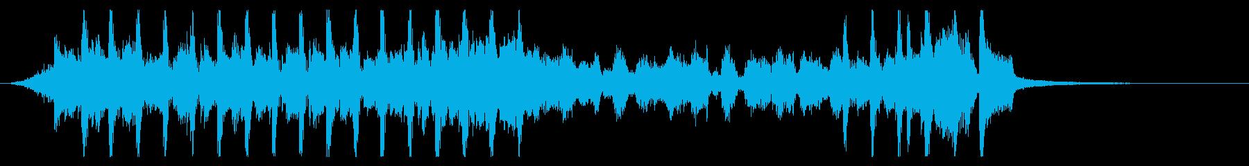 スタイリッシュな四つ打ちギターファンクの再生済みの波形