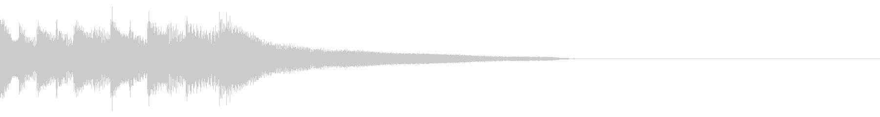 しっとり大人な雰囲気のピアノジングルA1の未再生の波形