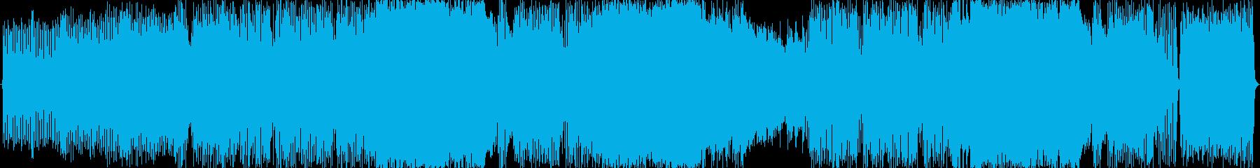 ツーバス 激しいリズムの和風ロックの再生済みの波形