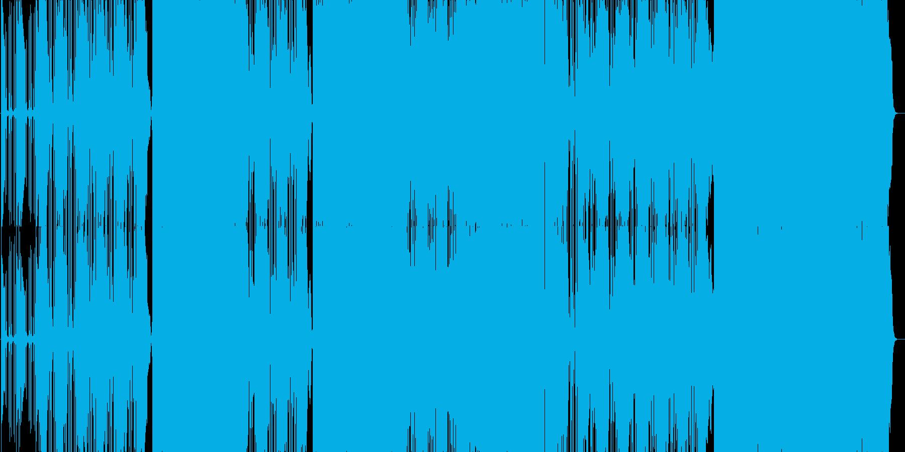 ガレージサウンド生録音のロックンロール曲の再生済みの波形