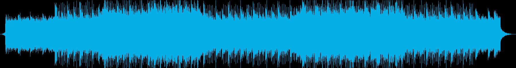 スポーツ系アニメで優勢の流れの時のBGMの再生済みの波形