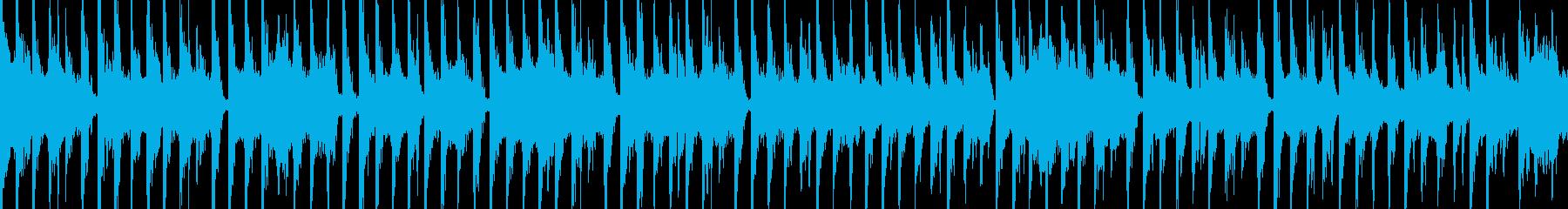 かわいい動物が走るようなドキドキする曲の再生済みの波形