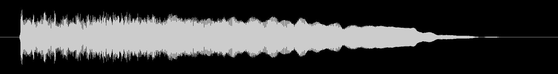 ファズ・ギターのハードロックなジングルの未再生の波形