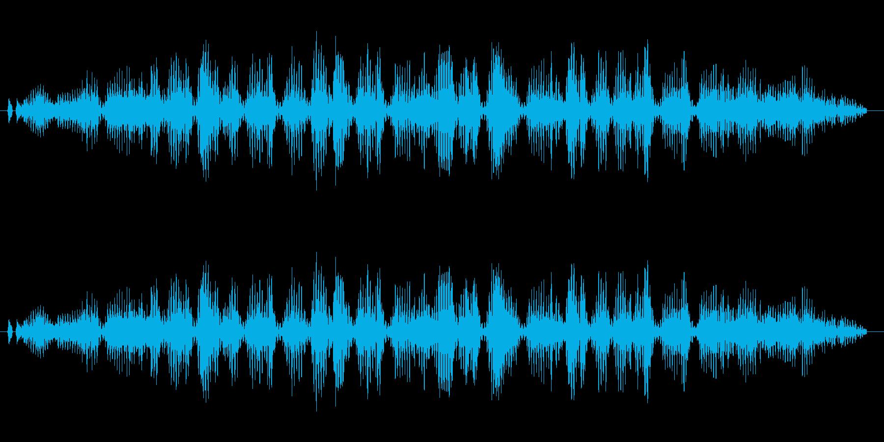 うがいの音です、(ガラガラ)の再生済みの波形
