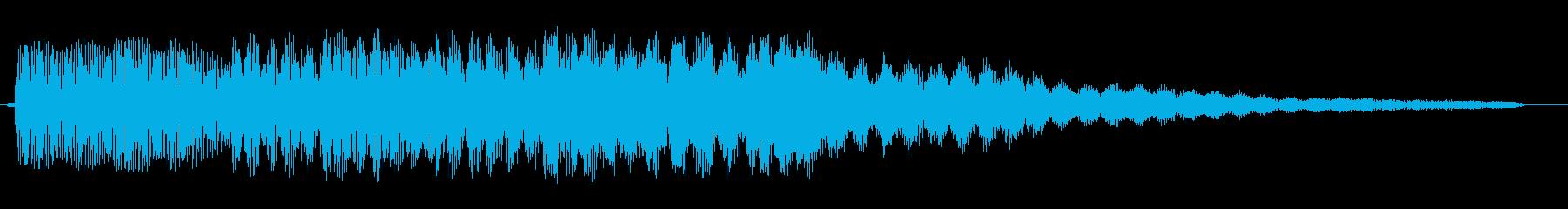 ピンポンパンポン、というお知らせ音の再生済みの波形