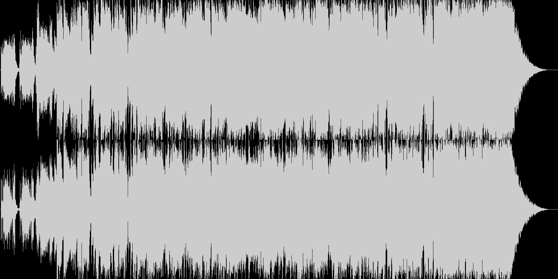 軽快なアルペジオで始まるギターインストの未再生の波形