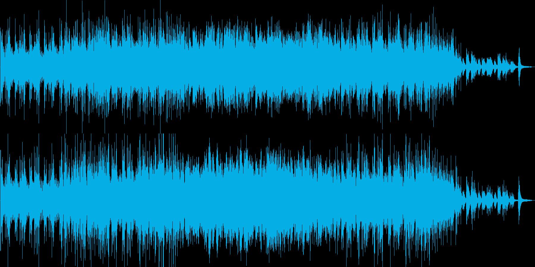 前向きになれる雰囲気の曲ですの再生済みの波形