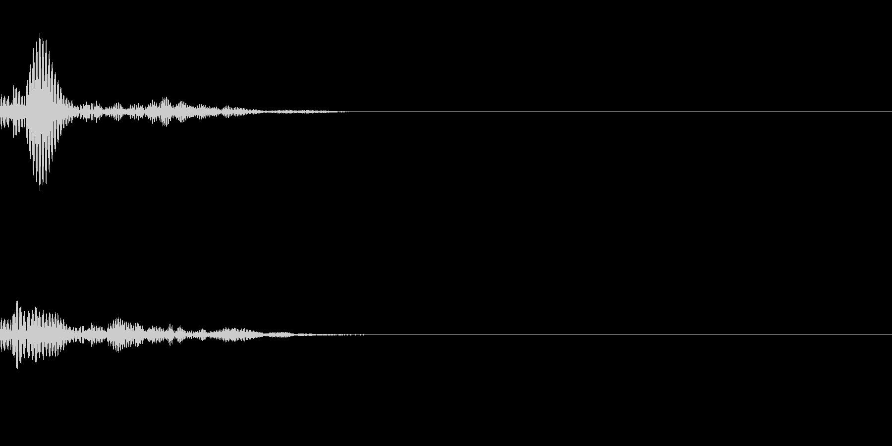 ポォァンッ(小型キャラの飛び跳ねるSE)の未再生の波形