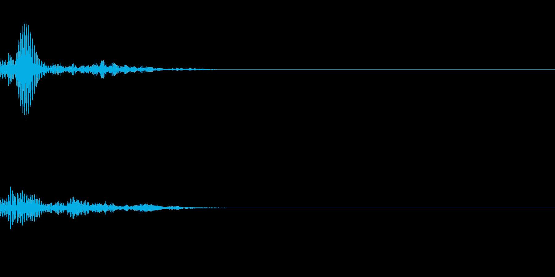 ポォァンッ(小型キャラの飛び跳ねるSE)の再生済みの波形