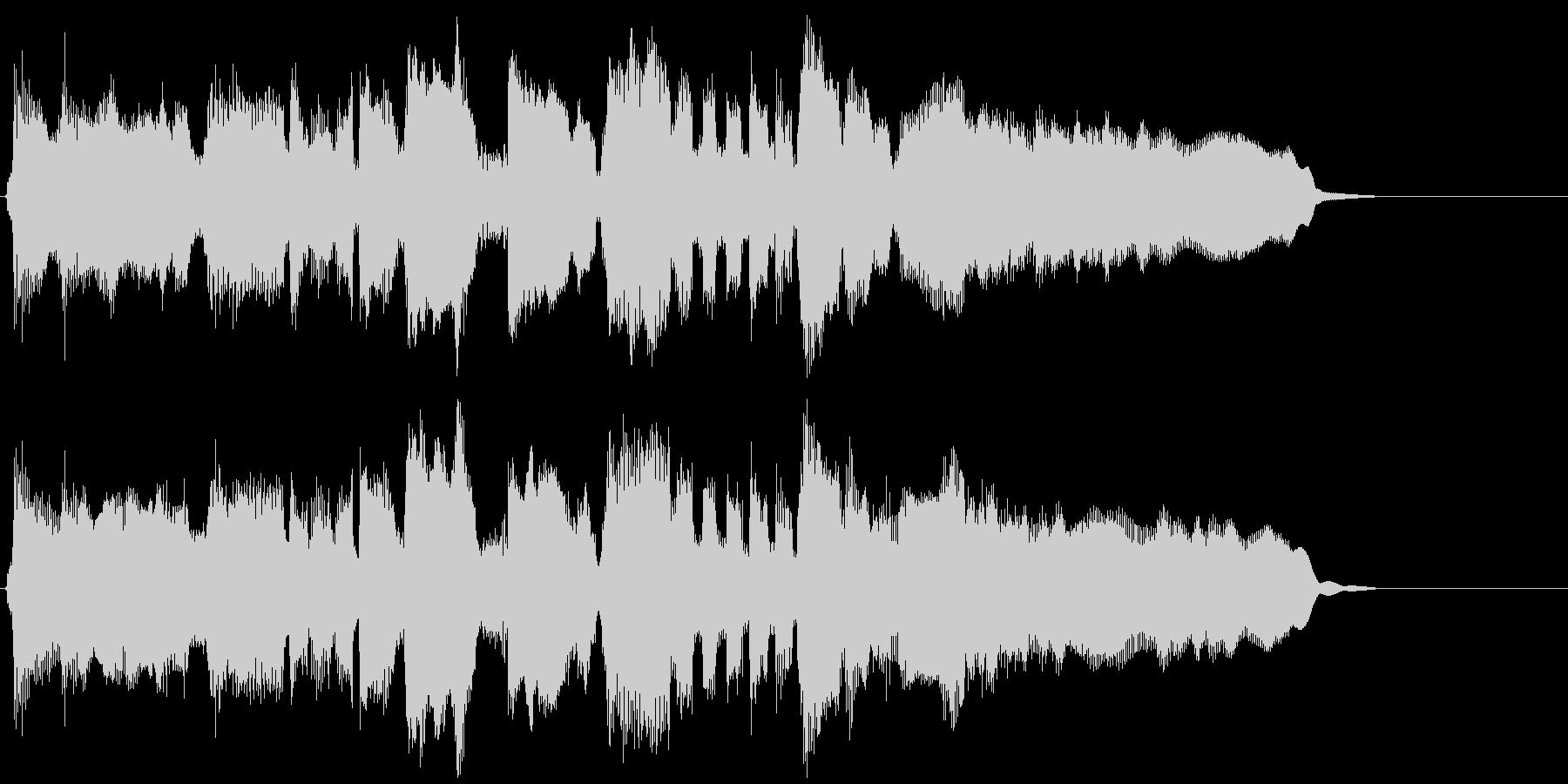 15秒CM向けのフュージョンバラードの未再生の波形