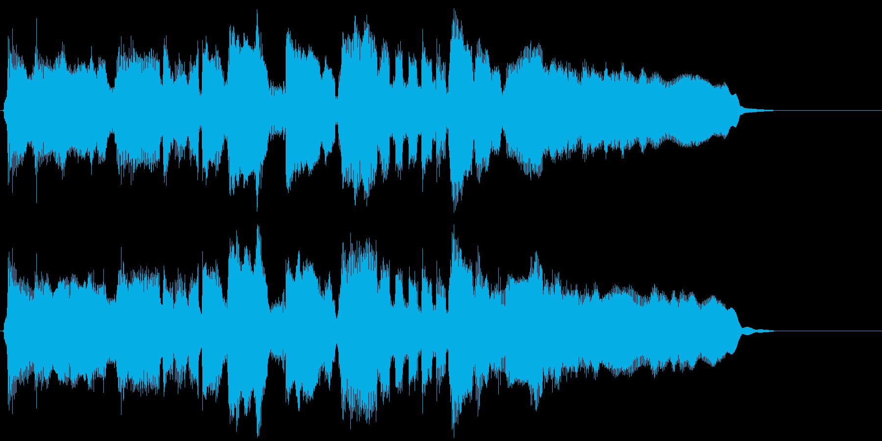15秒CM向けのフュージョンバラードの再生済みの波形