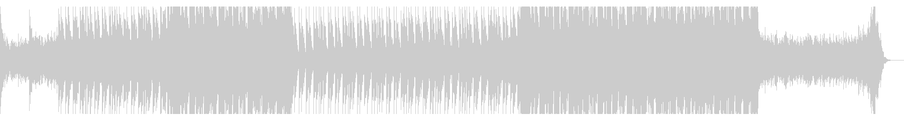 金属音のトレーラー向けインダストリアル曲の未再生の波形
