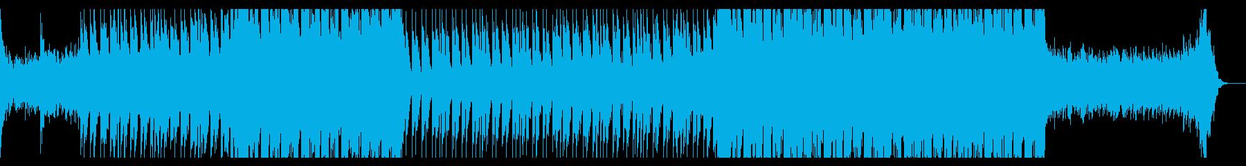 金属音のトレーラー向けインダストリアル曲の再生済みの波形